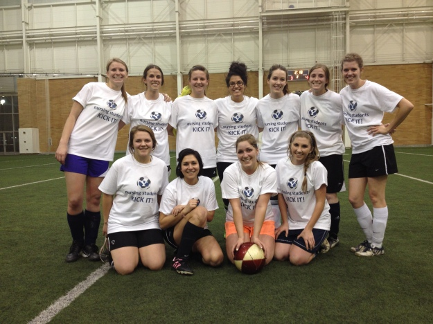 Fifth semester students take second place in fall 2014 soccer intramurals.